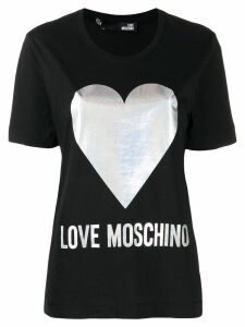 Love Moschino heart print T-shirt - Black