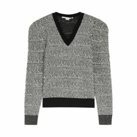 Stella McCartney Charcoal Textured-knit Wool Jumper
