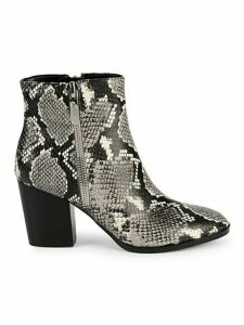 Niomi Snakeskin-Embossed Ankle Boots