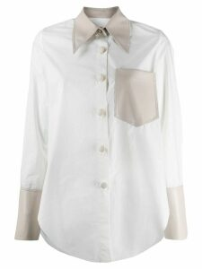 Nanushka panelled shirt - White