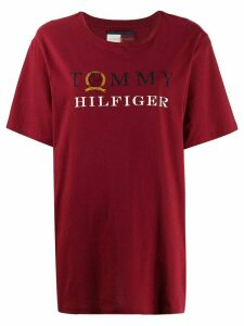 Tommy Hilfiger logo print T-shirt - Red