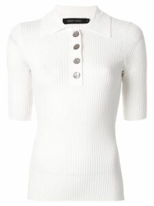 Nobody Denim Chelsea ribbed polo top - White