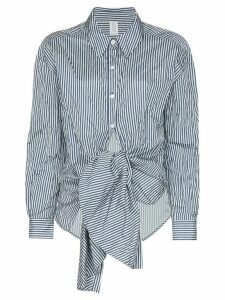 Rosie Assoulin tie-waist striped shirt - Blue