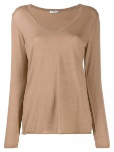 P.A.R.O.S.H. cashmere V-neck jumper - Brown