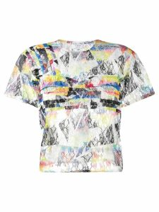 Collina Strada Rainbow Lace top - Black
