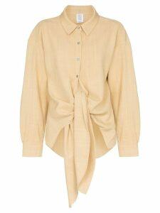 Rosie Assoulin tie-waist shirt - NEUTRALS