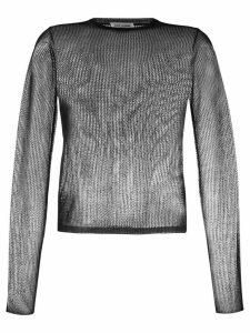 Saint Laurent sheer crew-neck sweater - Black