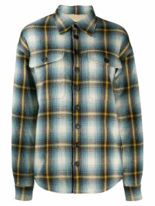 Dsquared2 checked trucker shirt - Blue
