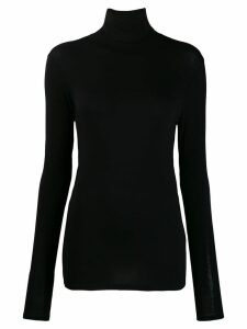 Majestic Filatures turtleneck jersey top - Black