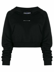 1017 ALYX 9SM cropped hooded sweatshirt - Black