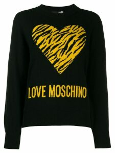 Love Moschino Love knit jumper - Black