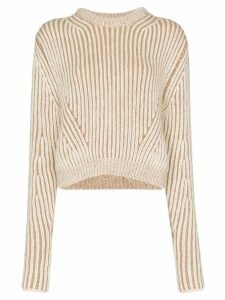 Chloé two-tone ribbed sweater - Neutrals