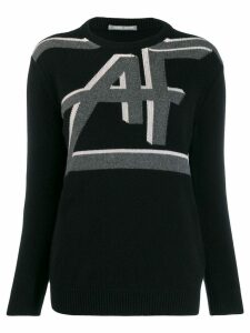 Alberta Ferretti logo knit sweater - Black