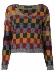 The Elder Statesman checked jumper - Multicolour