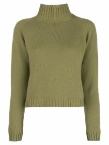 The Elder Statesman cashmere roll neck jumper - Green