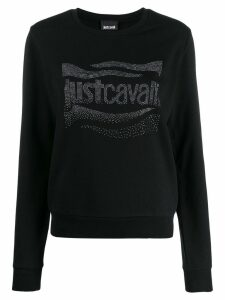 Just Cavalli embellished logo sweatshirt - Black