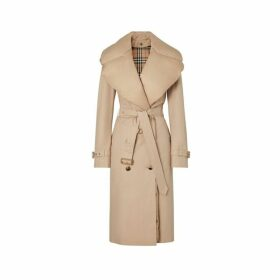 Burberry Detachable Collar Cotton Gabardine Trench Coat