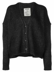 Uma Wang slouchy knitted cardigan - Brown