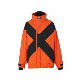 Burberry Panelled Nylon Track Jacket With Detachable Warmer
