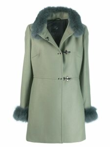 Fay fur details coat - Green