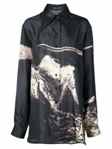 Kwaidan Editions Moon print oversized shirt - Black