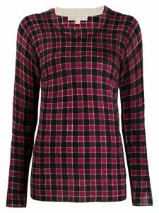 Michael Michael Kors plaid knit jumper - PURPLE