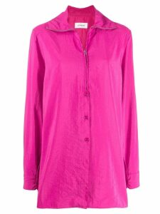 Lemaire zip-up shirt jacket - PINK