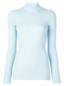 Kwaidan Editions ribbed turtleneck jumper - Blue