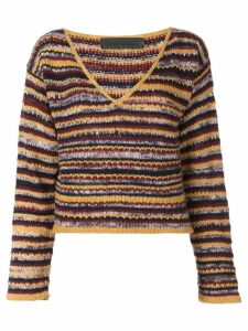 The Elder Statesman striped knitted top - Multicolour