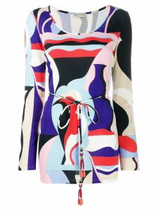 Emilio Pucci Vallauris print long-sleeved top - Blue