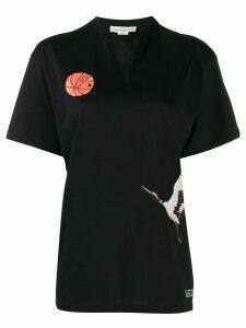 Golden Goose printed crane T-shirt - Black