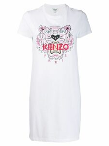 Kenzo tiger logo T-shirt dress - White