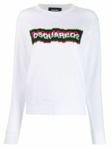 Dsquared2 3D logo print sweatshirt - White
