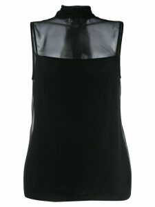 Neil Barrett sheer panel blouse - Black