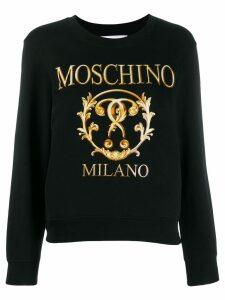 Moschino logo print sweatshirt - Black