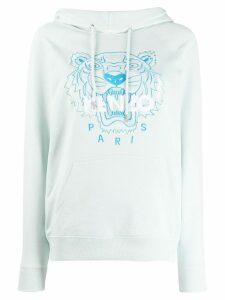 Kenzo embroidered Tiger hoodie - Blue
