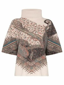 Etro paisley-print ribbed sweater - Neutrals