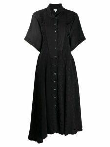 Loewe feather printed shirt dress - Black