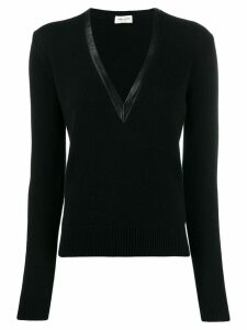 Saint Laurent cashmere v-neck sweater - Black