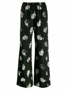 LANVIN knight print palazzo trousers - Black