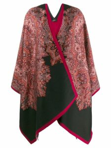 Etro knitted patter poncho - Black