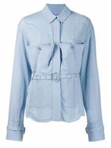 Jacquemus La chemise Enna belted shirt - Blue