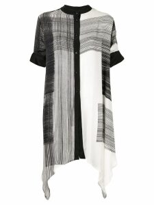 Taylor Amplitude crosshatch long shirt - Black