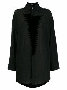 Loewe wrinkled texture loose shirt - Black