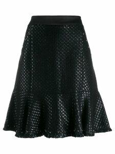 Karl Lagerfeld Karl's Treasure boucle skirt - Black