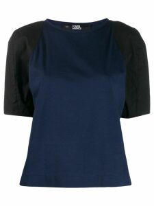 Karl Lagerfeld contrast sleeve T-shirt - Blue