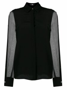 Karl Lagerfeld sheer sleeve shirt - Black
