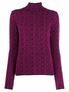 Versace Chevron knitted jumper - PURPLE
