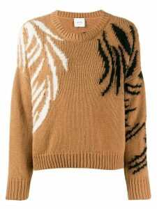 Alysi embroidered detail sweaterlong sleeve - Brown