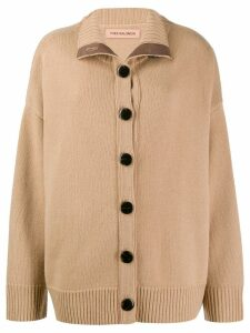 Yves Salomon dropped shoulder cardigan - NEUTRALS